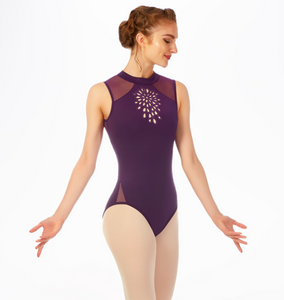 Buy online high quality Mirella Embroidered Cut Out High Neck Tank Leotard - The Movement Boutique - Kelowna