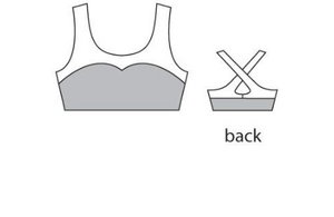 Buy online high quality Motionwear Sweetheart Cross Back Bra Top - The Movement Boutique - Kelowna