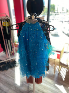 Buy online high quality CONSIGN - Blue Biketard with Mesh Overlay (IC) - The Movement Boutique - Kelowna