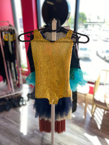 Buy online high quality CONSIGN - Yellow Leotard with Feather Details (6C) - The Movement Boutique - Kelowna