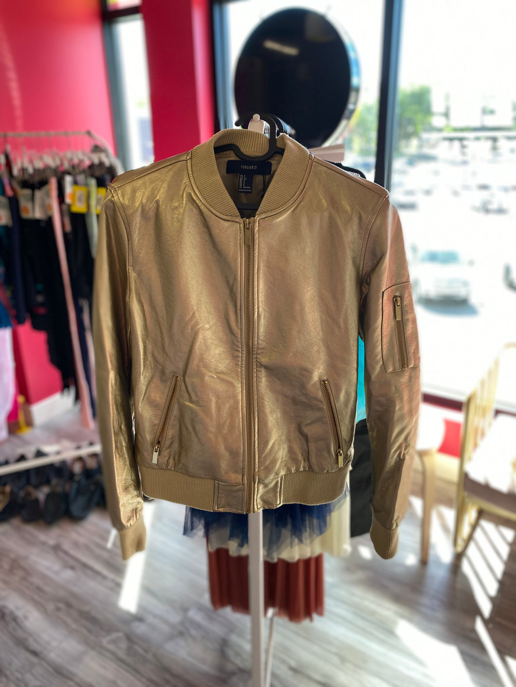 Buy online high quality CONSIGN - Gold Zip Jacket (SA) - The Movement Boutique - Kelowna