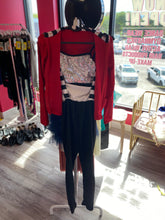 Load image into Gallery viewer, Buy online high quality CONSIGN - Sequin Top with Red Jacket and black pant (XLC) - The Movement Boutique - Kelowna