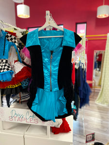 Buy online high quality CONSIGN - Blue & Black Jazz Top with Zip - The Movement Boutique - Kelowna