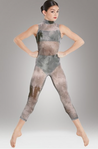 Buy online high quality CONSIGN - Olive Smoky Mesh Unitard - The Movement Boutique - Kelowna