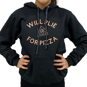 "Buy online high quality The MVMNT ""Will Plie for Pizza"" Hoodie - The Movement Boutique - Kelowna"