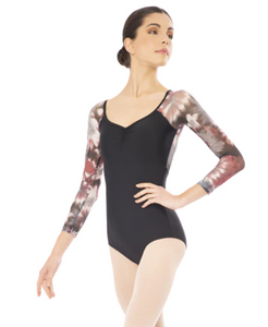 Buy online high quality Plume Abstract mesh Long Sleeve Leotard - The Movement Boutique - Kelowna
