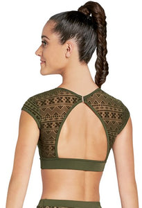 Buy online high quality Balera Cap Sleeve Aztec Mesh Crop Top (Medium Adult) - The Movement Boutique - Kelowna