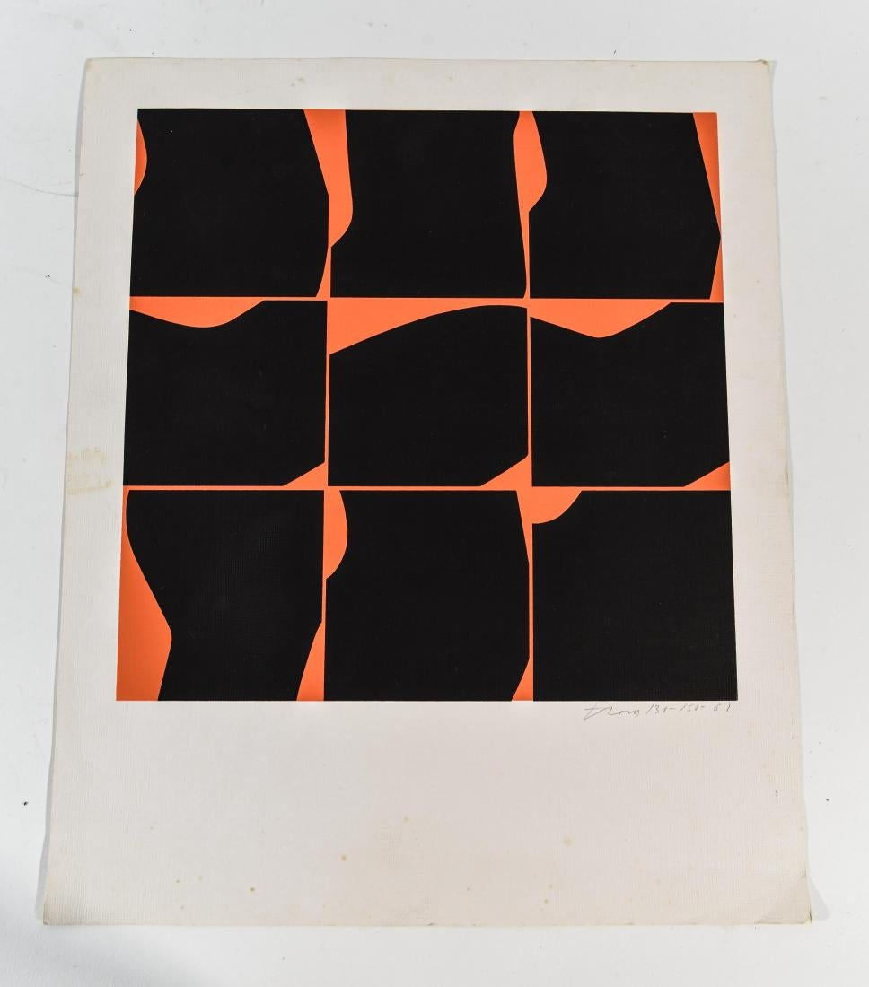 "Ernest Trova - Untitled Color Silkscreen Print (from ""Falling Man"" portfolio) 130/150"