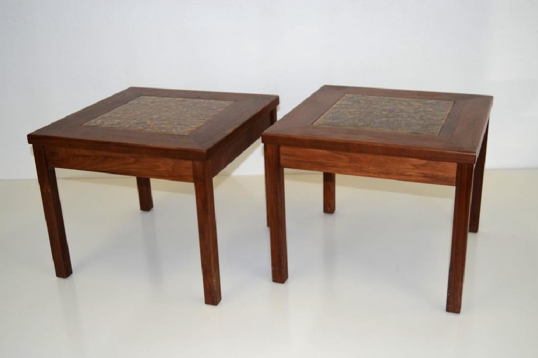 Brown and Saltman Walnut Tables