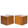 Edward Axel Roffman Walnut Cube Tables (2)