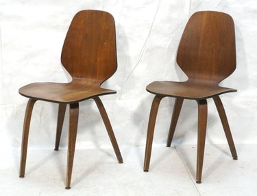 Molded Playwood Side Chairs (2)