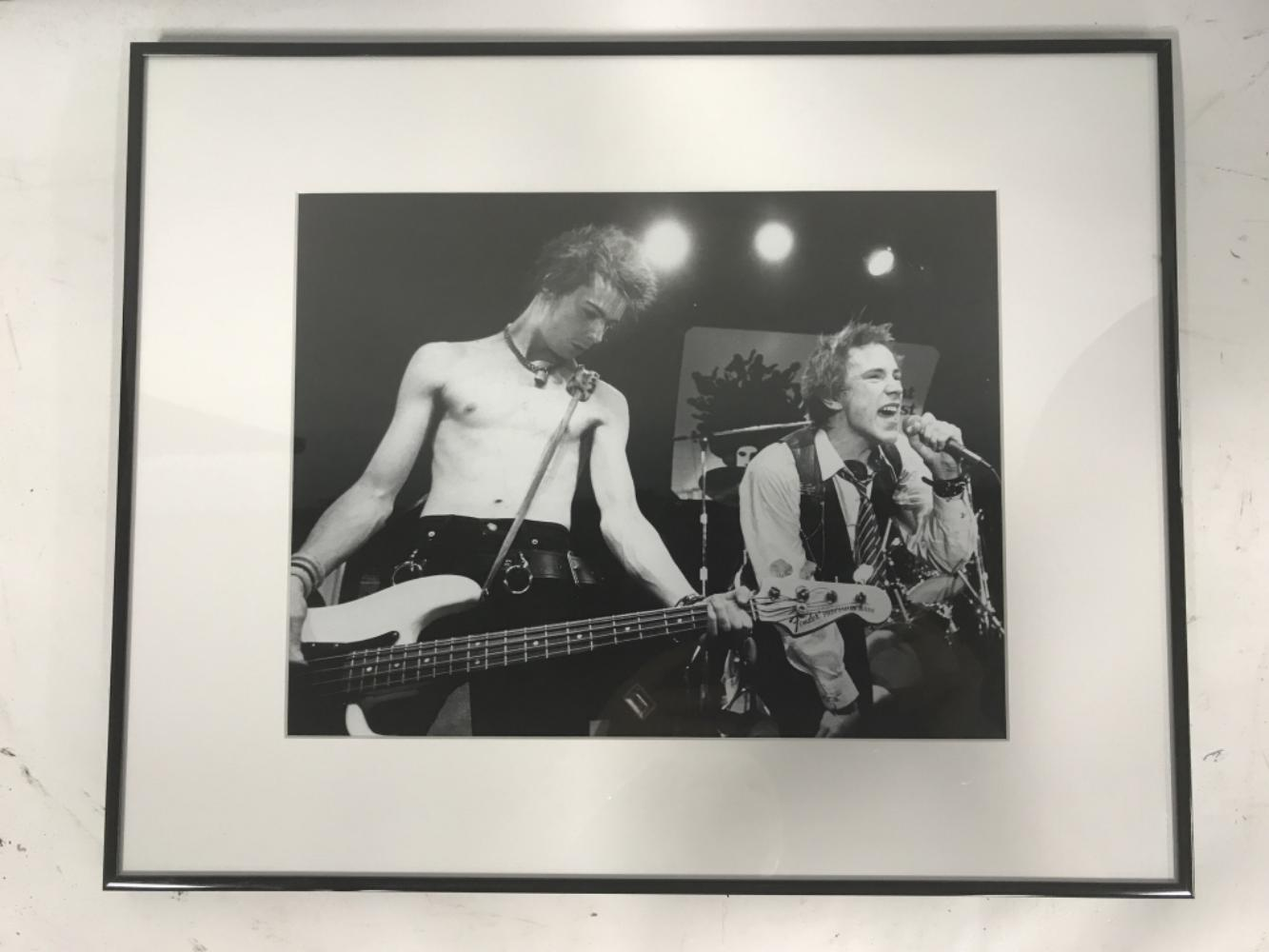 Johnny Rotten & Sid Vicious B&W Photograph Print