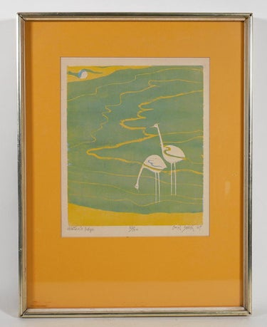 """Water's Edge"", Chin Sung 1969 Signed Print"