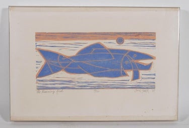 """The Roaming Fish"", Chin Sung 1969 Print"