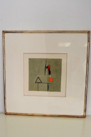 Fletcher Benton Watercolor - Signed