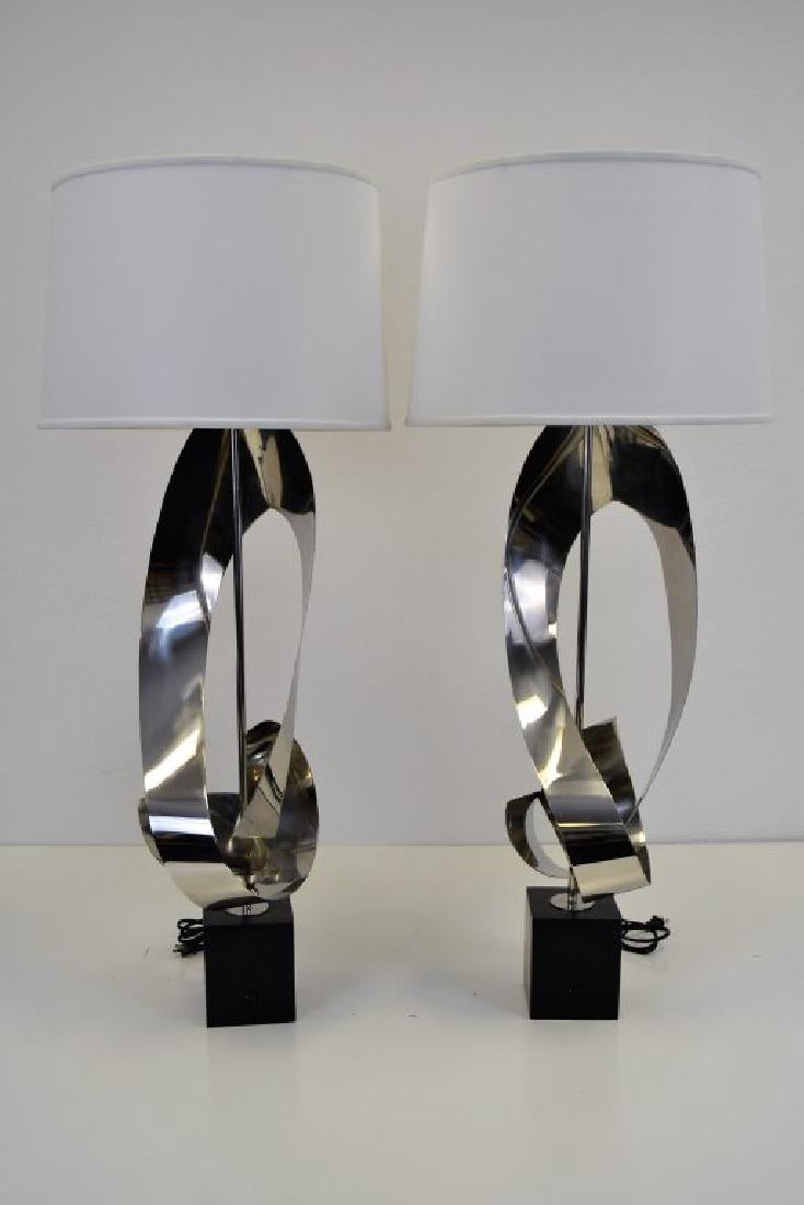 Custom Stainless Free Form Lamps (2)