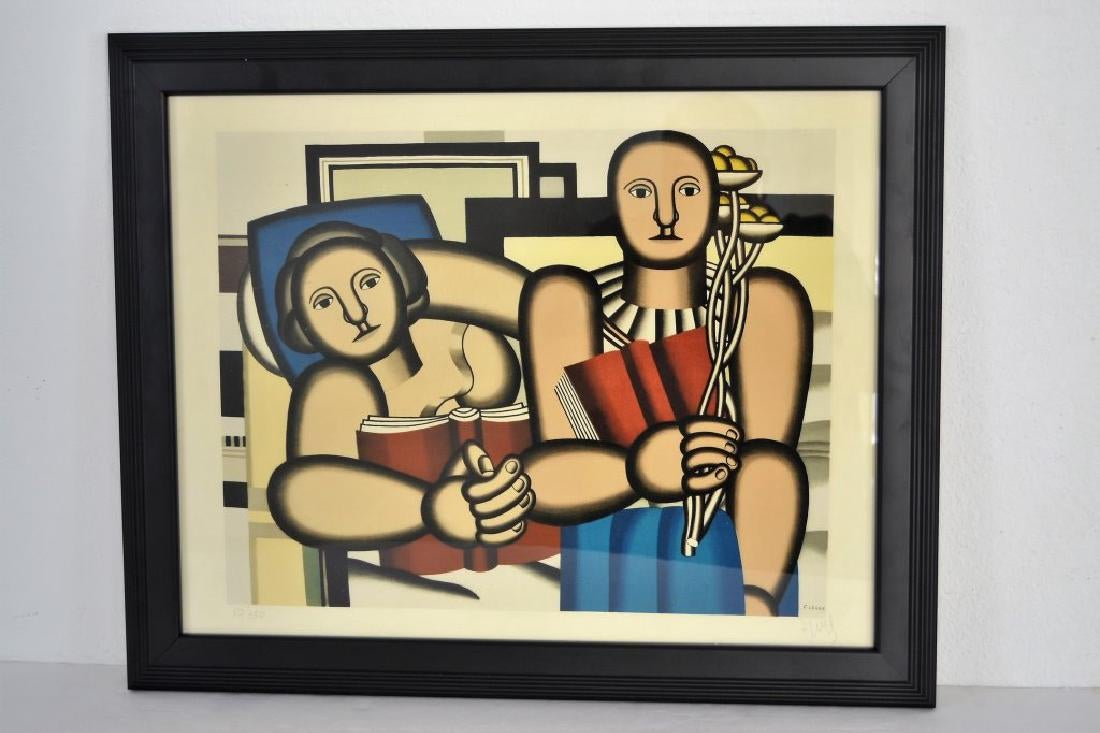 "Fernand Leger ""La Lecture"" Pencil Signed"