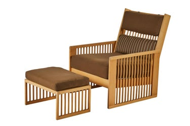 Ben Af Schulten Lounge Chair and Ottoman