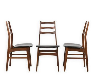 Three Danish Rosewood Chairs