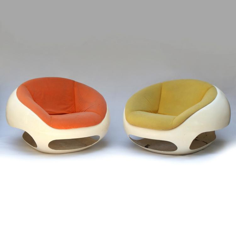 Rare Mario Sabo Lounge Chairs (2)
