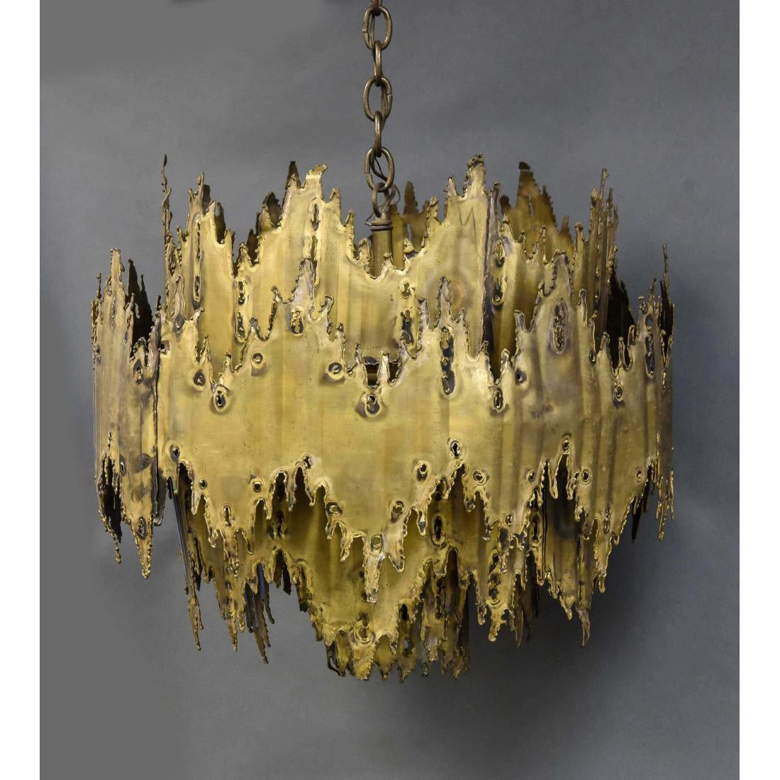 Signed Tom Greene Brutalist Chandelier