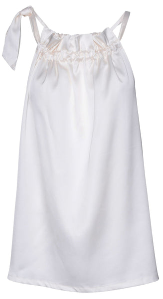 Elisabeth Top - White Ivory Satin