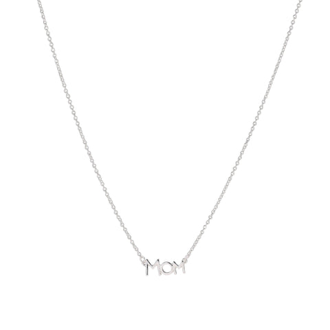 """MOM"" Necklace - Silver"