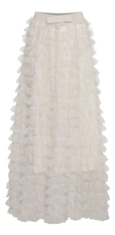 Tulle Skirt - Cream