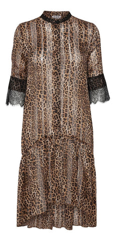 Stella Dress - Brown Leopard