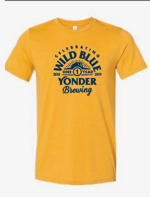 1 Year Anniversary Unisex Yellow T-Shirt