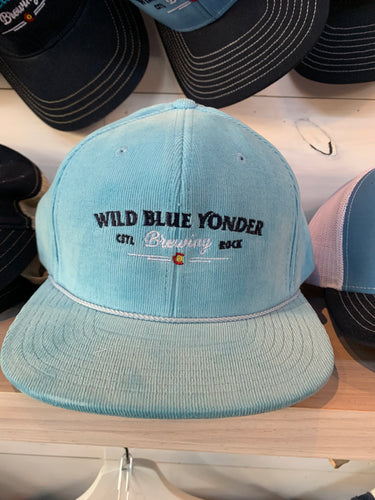 Light Blue Corduroy Hat