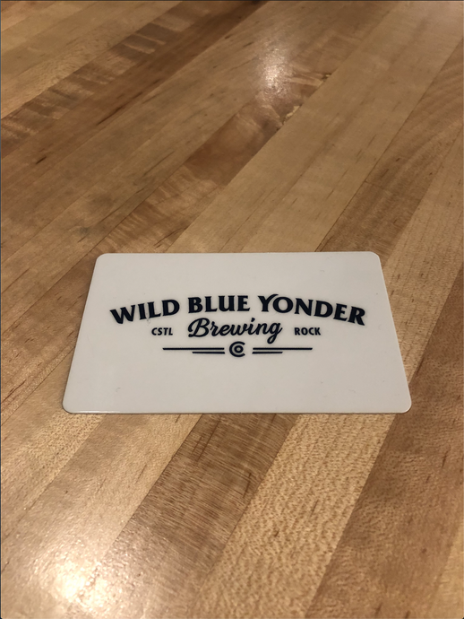 $25 Wild Blue Yonder Brewing Co. Taproom Gift Card