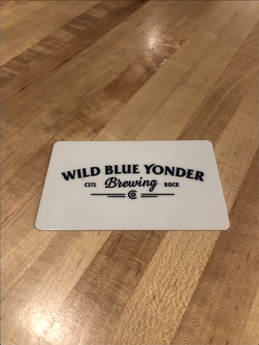 $10 Wild Blue Yonder Brewing Co. Taproom Gift Card