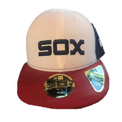 "White ""Sox"" Fitted Cap"