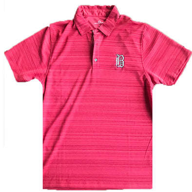 Barons Red Striped Polo