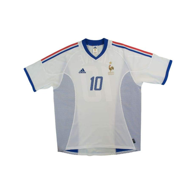 2002-2003 France Away vintage football shirts ZIDANE #10