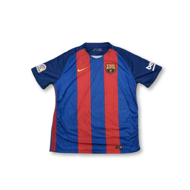 2016-2017 FC Barcelona home retro football jersey