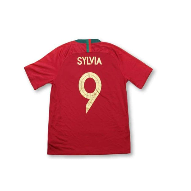 2018-2019 Portugal home vintage football shirt  #9 SILVA