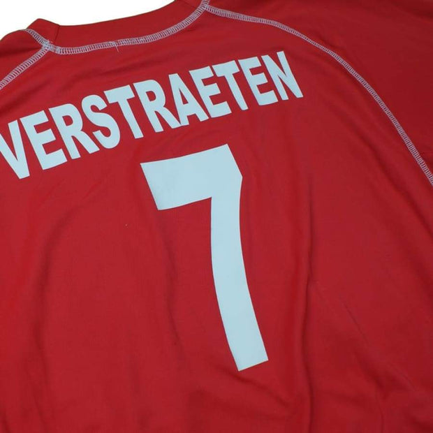 R. White Star Woluwe FC vintage football shirt #7 Verstraeten