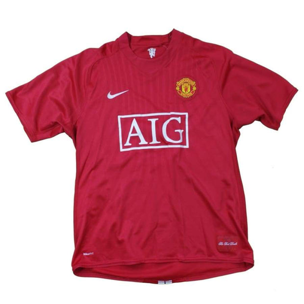 Maillot de football Manchester United n°4 Sully 2007-2008 - Nike - Manchester United