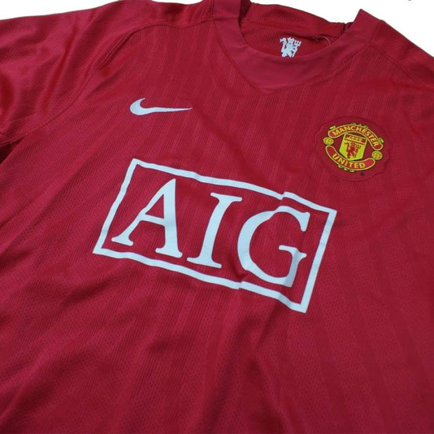 2007-2008 Manchester United vintage football shirt #4 Sully