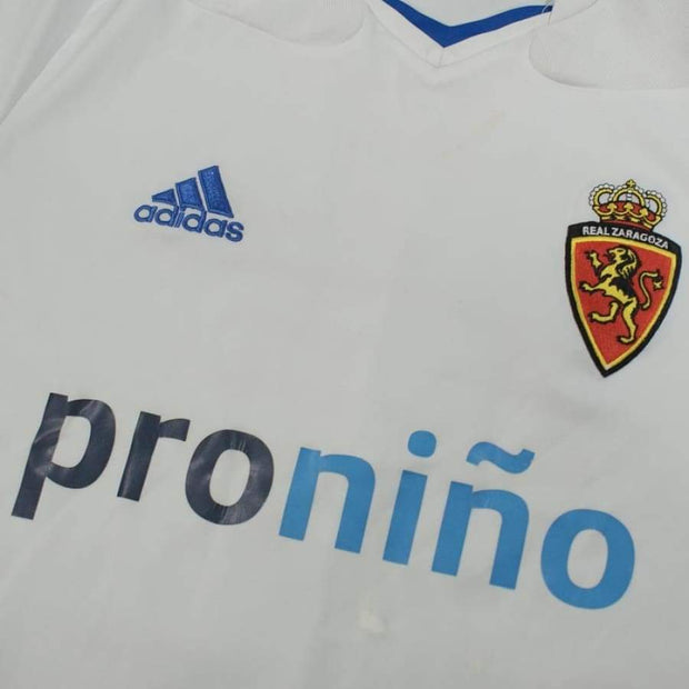 "2010-2011 Real Zaragoza vintage football shirt ""Pronino"""