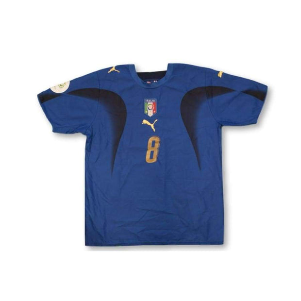 2006-2007 Italy Home vintage football shirt GATTUSO #8
