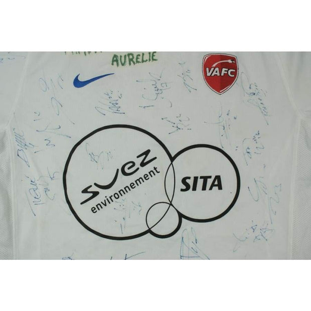 2009-2010 Valenciennes FC SUEZ SITA signed vintage football shirt