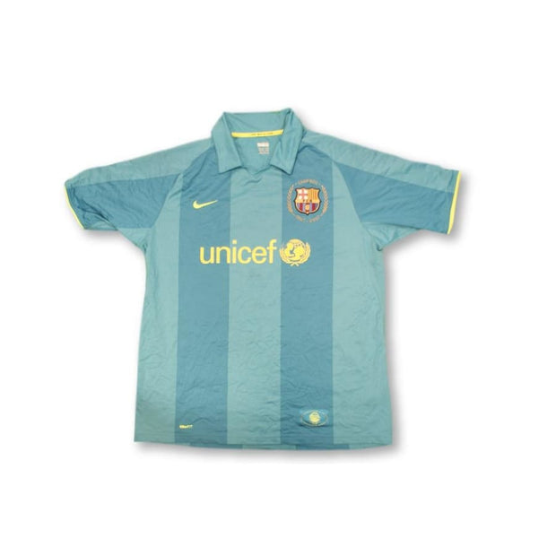 2007-2008 FC Barcelona away classic football shirt #3 JESUS