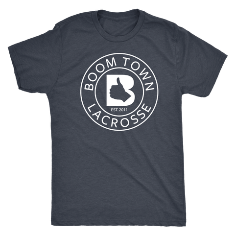 White Boom Town Circle Logo Men's T-Shirt