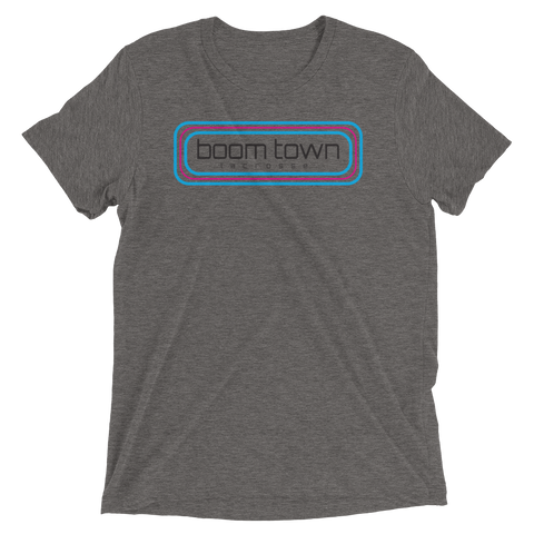 Retro Boom Town Logo Short Sleeve T-Shirt