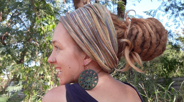 How to wear a Dread Wrap Headband