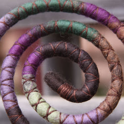 Dark Fairy Garden Wool Felt Spiralocks