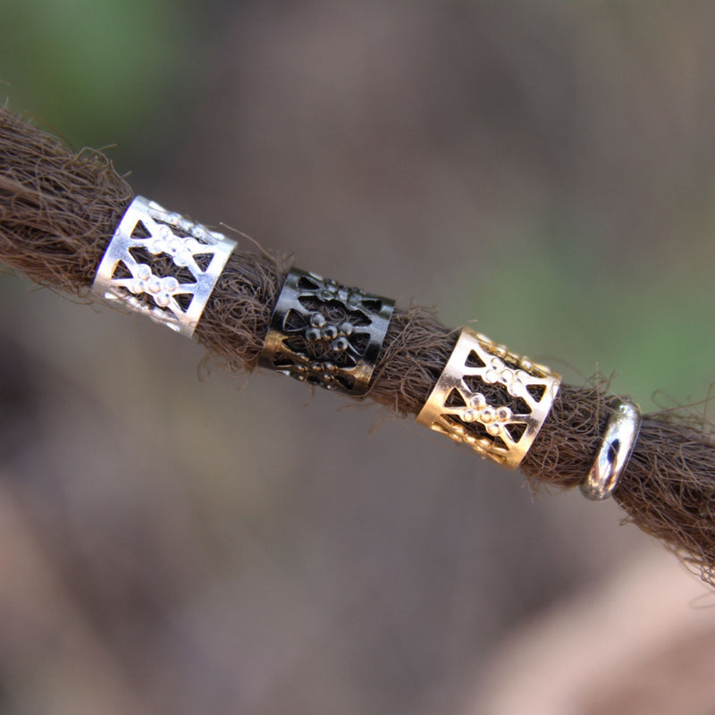 Black Silver Gold Filigree Cuffs | Set Of 30